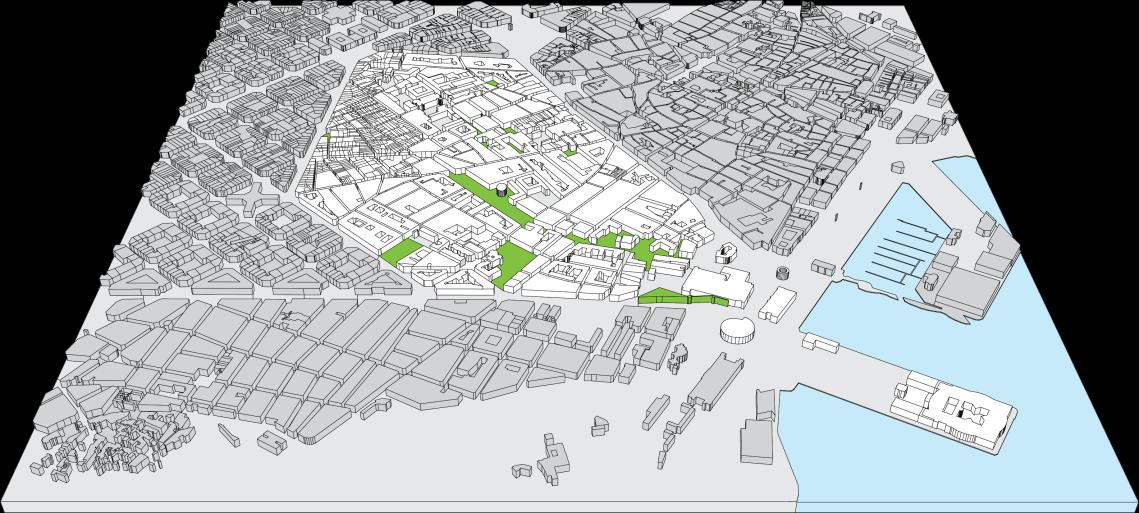 El Raval Map Green Space